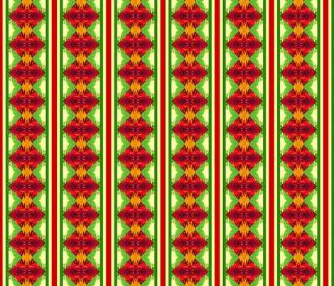 stripe_Picnik_collage_nasturtium_stretch fabric by khowardquilts on Spoonflower - custom fabric