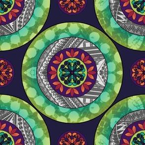 Gothic Pasfika: Mandala Green