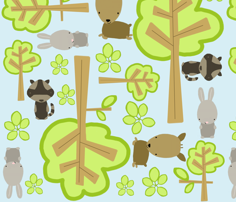 forest friends fabric by emilyb123 on Spoonflower - custom fabric