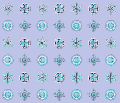 Jellyfish Dots on blue fabric by jellymania on Spoonflower - custom fabric