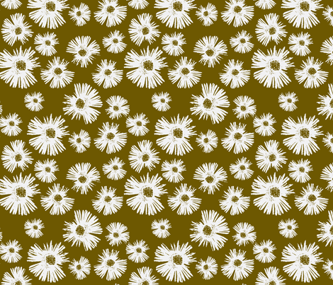 Paper Daisy - Bronze fabric by kristopherk on Spoonflower - custom fabric
