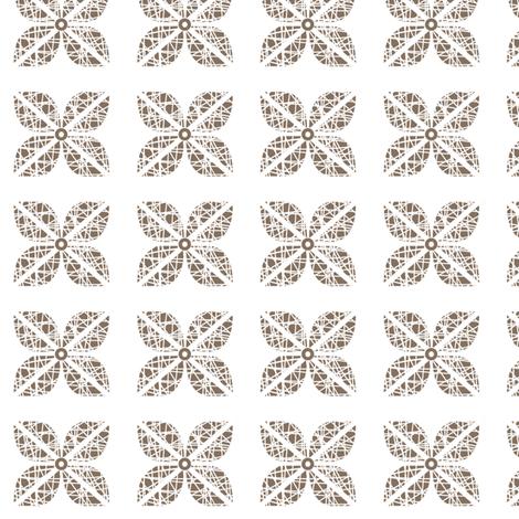 Scribble Flower - Coffee Bean fabric by kristopherk on Spoonflower - custom fabric