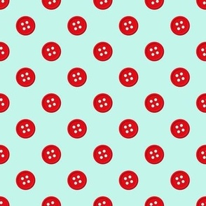 Button - Aqua/Red