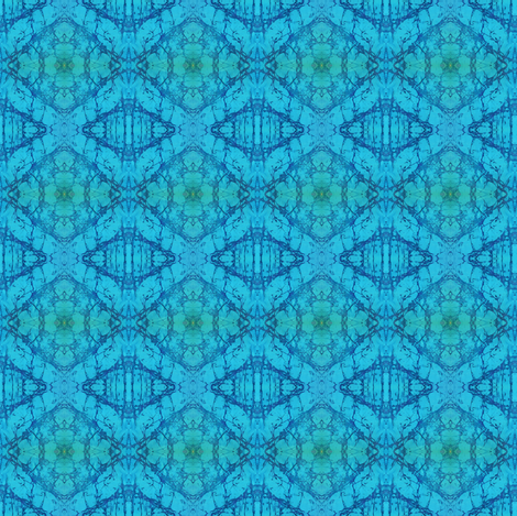 BLUE WATERZ-SM by SUE DUDA fabric by suedudadesigns on Spoonflower - custom fabric