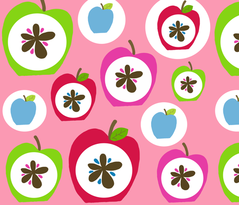 happy apples fabric by emilyb123 on Spoonflower - custom fabric
