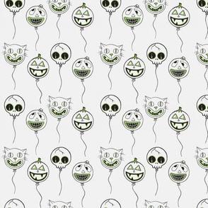 spooky balloons green