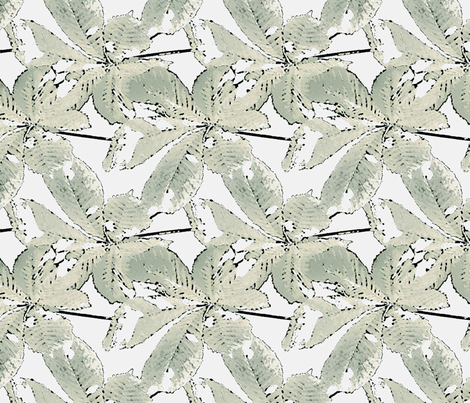 Lofty Linen Leaves fabric by kristopherk on Spoonflower - custom fabric