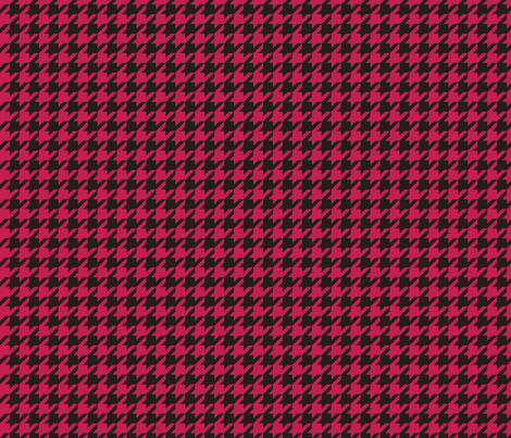 Houndstooth - Cherry Red fabric by pixeldust on Spoonflower - custom fabric