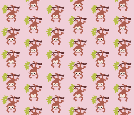 monkeypink fabric by mytinystar on Spoonflower - custom fabric