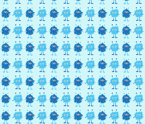 2_monsters fabric by petunias on Spoonflower - custom fabric