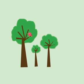 3_trees_-2_-_greenish_background_-_with_red_bird_copy