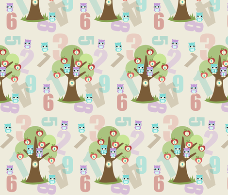 Tree 1 2 3 fabric by mytinystar on Spoonflower - custom fabric