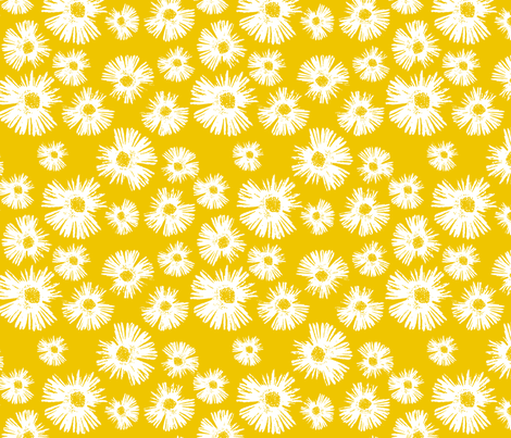 Paper Daisy - Summer Yellow fabric by kristopherk on Spoonflower - custom fabric