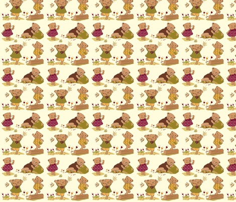 Berry Bear fabric by peikonpoika{by}brunou on Spoonflower - custom fabric