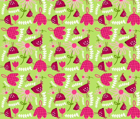 pink picnic fabric by emilyb123 on Spoonflower - custom fabric