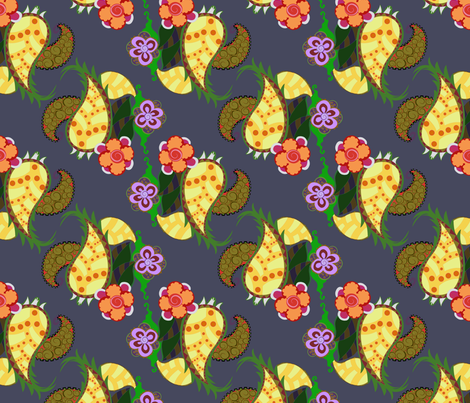 pineapple_joy_fall_colorway fabric by periwinklepaisley on Spoonflower - custom fabric