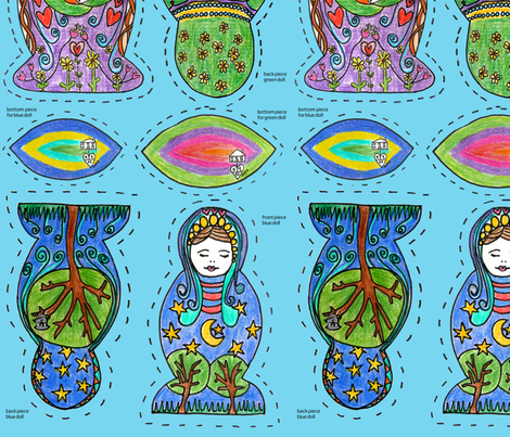 nesting-dolls fabric by kt40 on Spoonflower - custom fabric