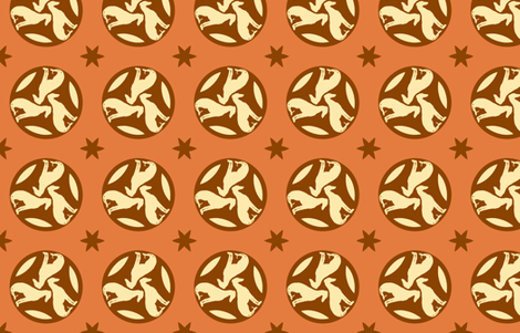 Rust Greyhounds gg3   ©2010 by Jane Walker fabric by artbyjanewalker on Spoonflower - custom fabric