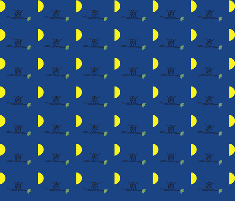 Full Moon Owl fabric by anacskie on Spoonflower - custom fabric