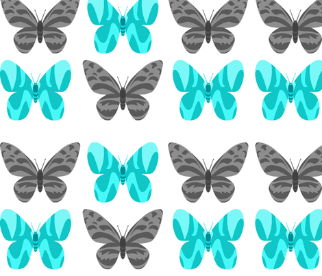 butterflies fabric by anacskie on Spoonflower - custom fabric