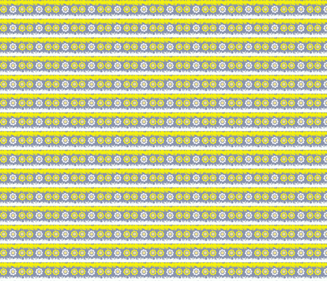 Yellow & White Flowers fabric by anacskie on Spoonflower - custom fabric