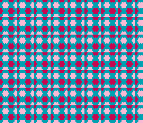hex_check_bl_gr_pink_Picnik_collage_preview fabric by khowardquilts on Spoonflower - custom fabric