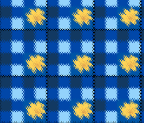smudge_blue_check_gold_2__Picnik_collage fabric by khowardquilts on Spoonflower - custom fabric