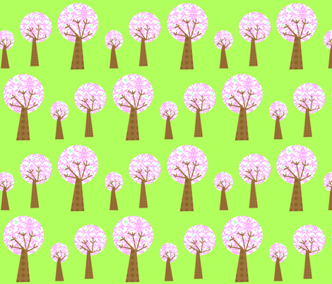 pink_damask_tree_3_copy fabric by petunias on Spoonflower - custom fabric