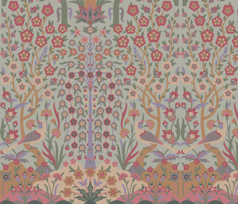 Garden of Paradise 3b fabric by muhlenkott on Spoonflower - custom fabric