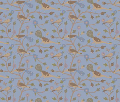 Persian Birds 613b fabric by muhlenkott on Spoonflower - custom fabric