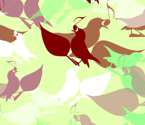 Scattered birdsong fabric by jasmo on Spoonflower - custom fabric