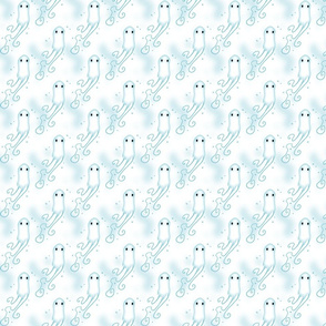 Little Ghosts Mottled White Background