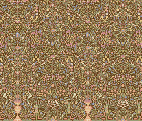Garden of Paradise 1a fabric by muhlenkott on Spoonflower - custom fabric