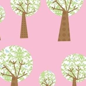 Pink Damask Trees