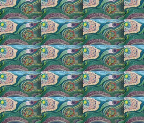 Mirror Repeat Primal Ooze fabric by thread_and_thumb on Spoonflower - custom fabric