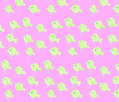 damask_birdies_-_pink_colorway_copy fabric by petunias on Spoonflower - custom fabric