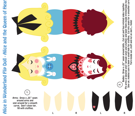 wonderland flip doll fabric by jordan_elise on Spoonflower - custom fabric