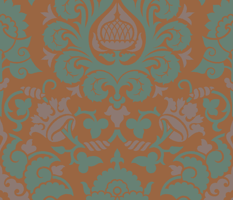Damask4b fabric by muhlenkott on Spoonflower - custom fabric