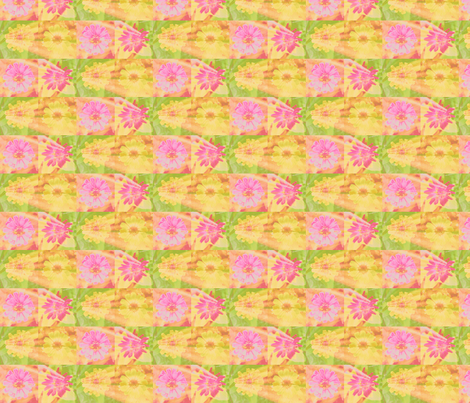 11 circle_splash_4_zinnias_row_Picnik_collage-ch-ch fabric by khowardquilts on Spoonflower - custom fabric