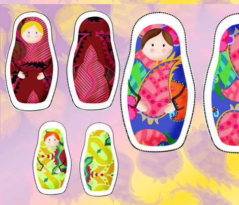 matroyshka_nesting_dolls fabric by periwinklepaisley on Spoonflower - custom fabric