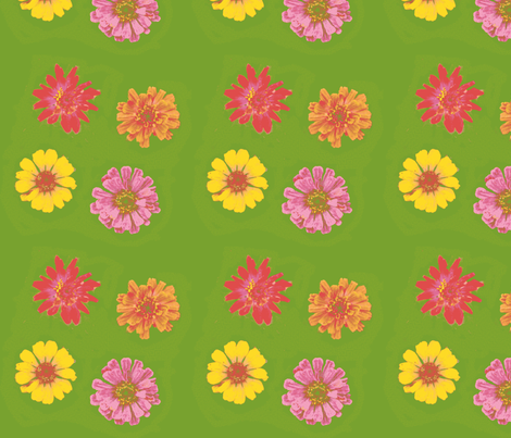 10 color 2_zinniasPicnik_collage-ch-ch-ch-ed-ch-ch-ch-ch-ch fabric by khowardquilts on Spoonflower - custom fabric