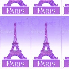 Purple Paris postcard