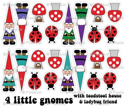 4 little gnomes