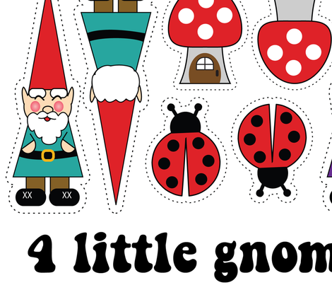4 little gnomes fabric by pixeldust on Spoonflower - custom fabric