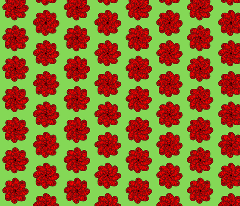red paisley flower