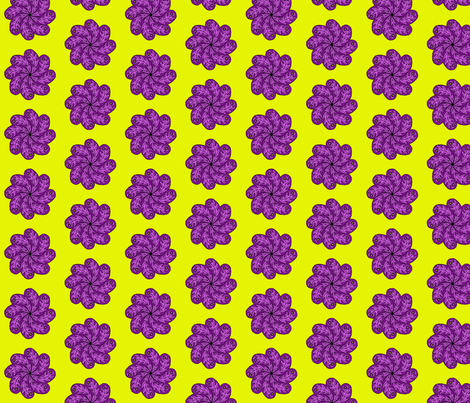 purple paisley flower fabric by jenniferwilson-parkes on Spoonflower - custom fabric
