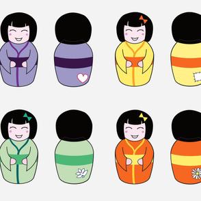 """14""""/ 35cm Kawaii Kokeshi Dolls"""