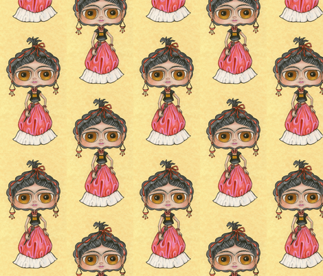 frida kahlo...  fabric by ibbets on Spoonflower - custom fabric