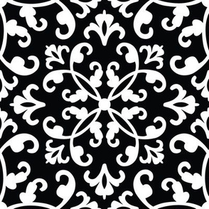 Contessa Damask - Black