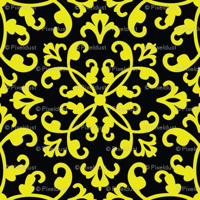 Contessa Damask - Mellow Yellow